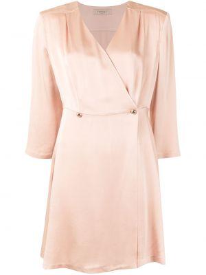 Платье с запахом - розовое Twin-set
