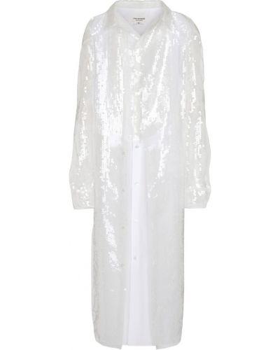 Платье с пайетками - белое Junya Watanabe