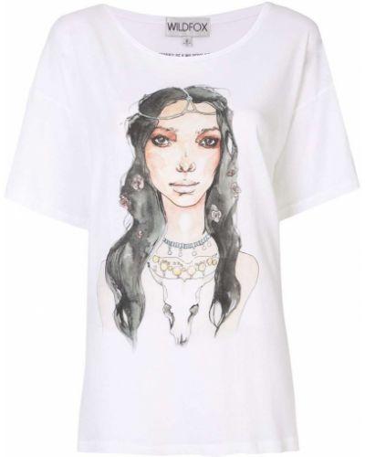 Хлопковая футболка - белая Wildfox