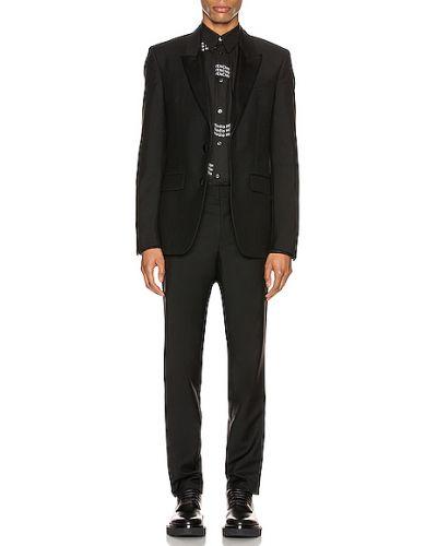 Satynowy czarny smoking Givenchy