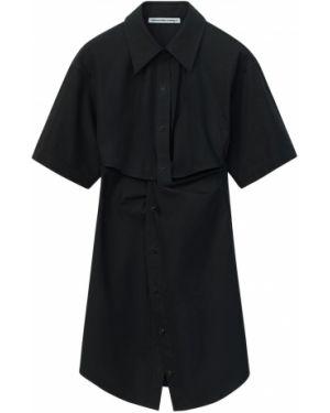 Sukienka mini z guzikami z popeliny Alexander Wang