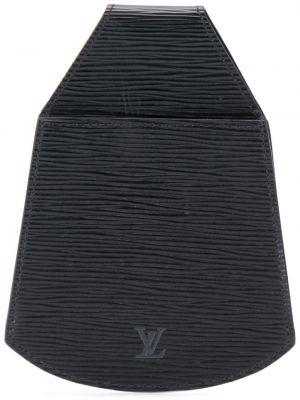 Кожаный черный клатч Louis Vuitton