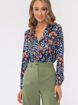 Блузка - синяя Vladi Collection