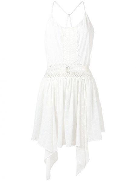 Тонкое платье мини с вышивкой на бретелях на молнии Martha Medeiros