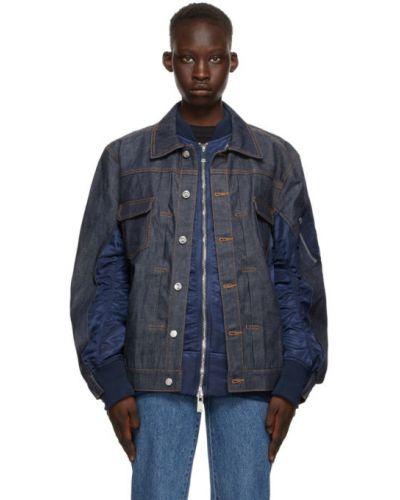 Синяя джинсовая куртка с воротником с длинными рукавами A.p.c.