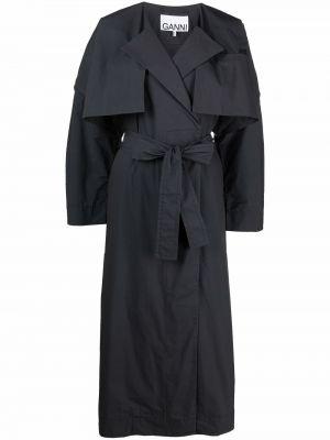 Серое пальто с карманами Ganni