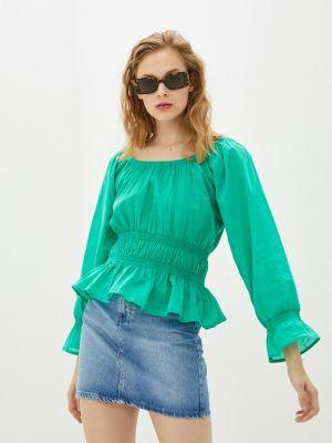 Зеленая блузка с длинными рукавами Compania Fantastica