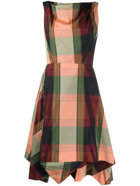 Красное асимметричное платье с воротником без рукавов Vivienne Westwood Pre-owned