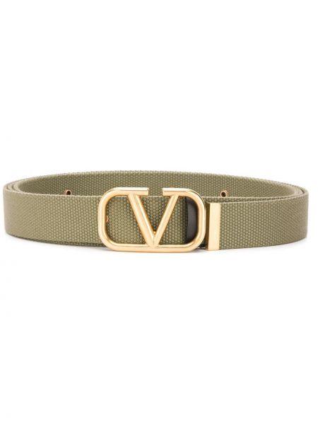 Złoty pasek - zielony Valentino