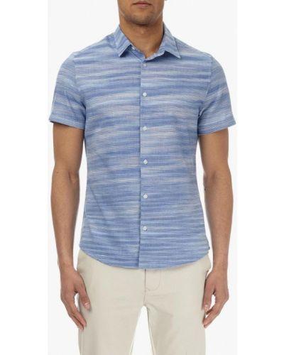 Синяя рубашка с короткими рукавами Burton Menswear London