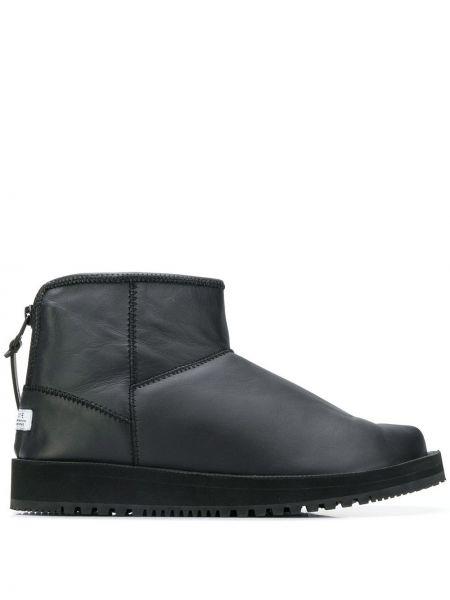 Черные кожаные ботинки Suicoke