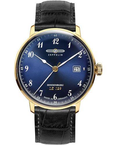 Часы водонепроницаемые с кожаным ремешком немецкий Zeppelin