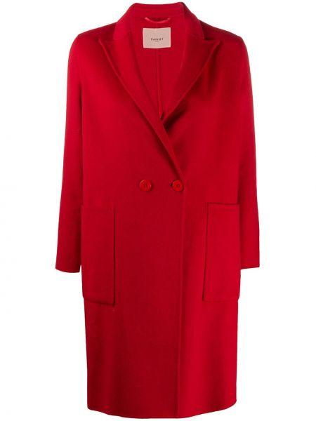 Длинное пальто шерстяное классическое Twin-set