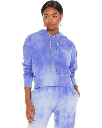 Niebieska bluza z kapturem bawełniana Dannijo