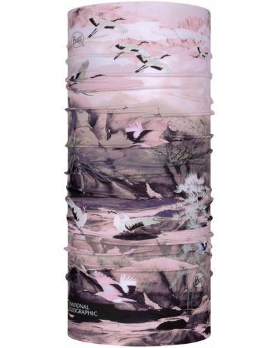Różowy komin materiałowy Buff