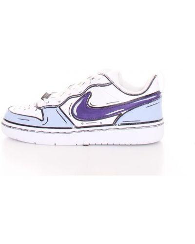 Fioletowe sneakersy płaska podeszwa Nike