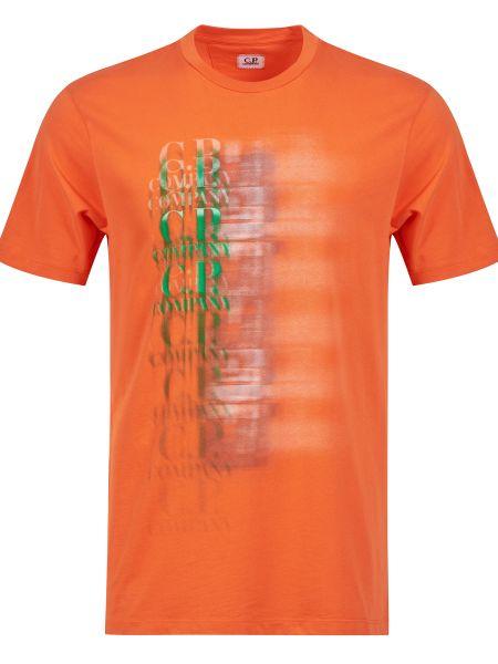 Хлопковая футболка - оранжевая C.p. Company