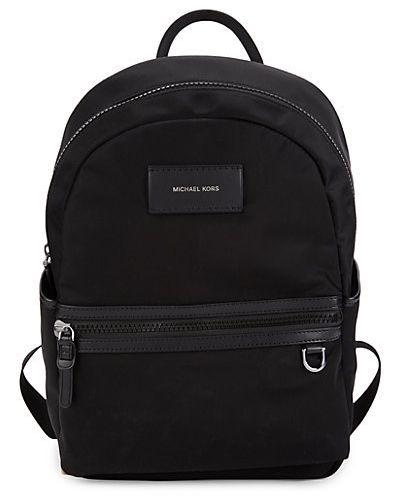 С ремешком черный рюкзак из натуральной кожи Michael Kors