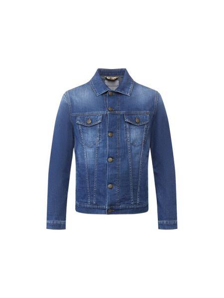 Хлопковая синяя джинсовая куртка прозрачная Jacob Cohen