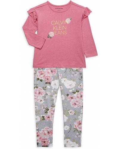 Розовый топ с длинными рукавами Calvin Klein