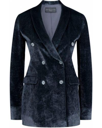 Пиджак черный вельветовый Fabiana Filippi