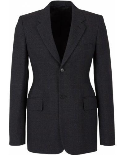 Prążkowana szara kurtka wełniana Balenciaga