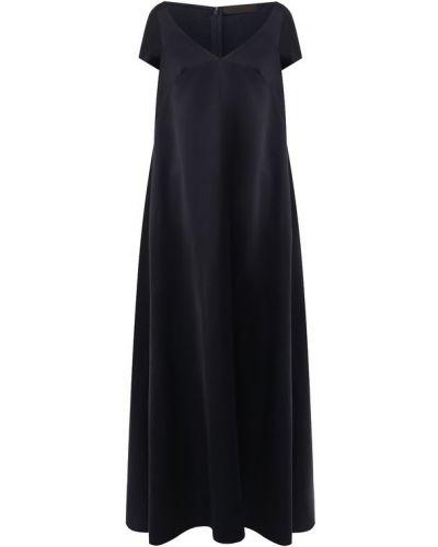 Вечернее платье с декольте макси Tegin