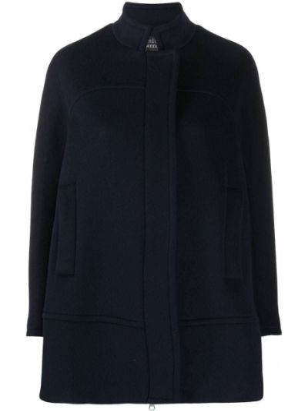 Шерстяное пальто - синее Gianluca Capannolo