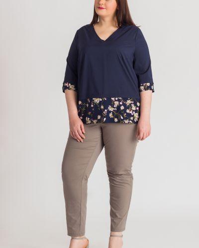 Блузка с цветочным принтом прямая Lacy_plus