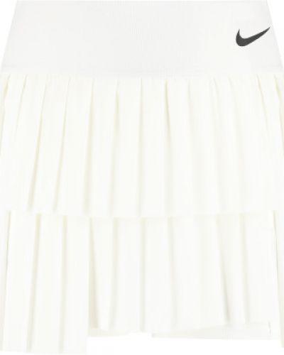 Теннисная белая плиссированная юбка-шорты Nike