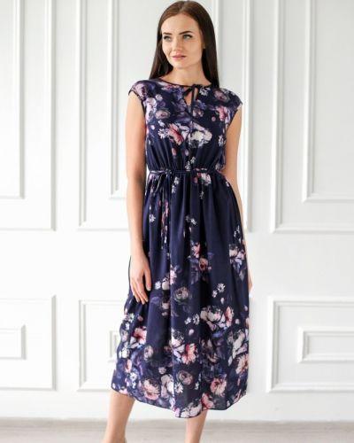 Платье розовое из штапеля инсантрик