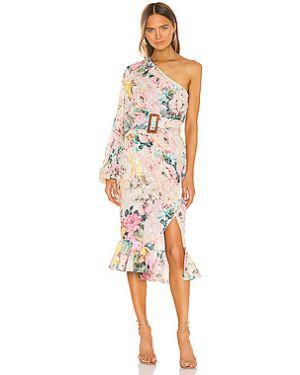 Платье миди шифоновое из вискозы Hemant And Nandita