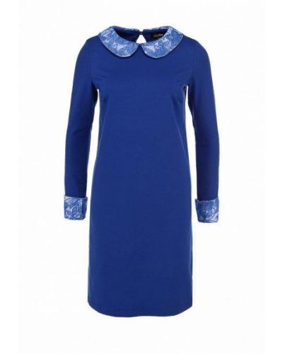 Повседневное платье осеннее синее Luann