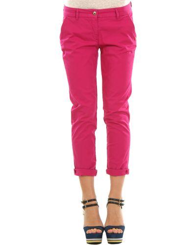 Розовые брюки хлопковые Patrizia Pepe