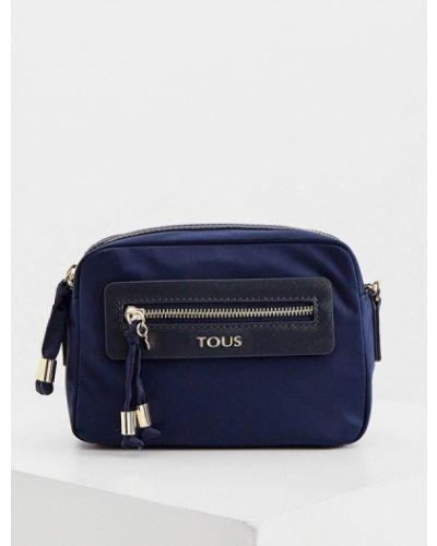 Нейлоновая синяя сумка через плечо Tous