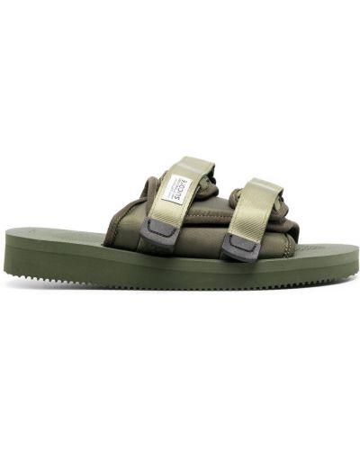 Sandały peep toe - zielone Suicoke
