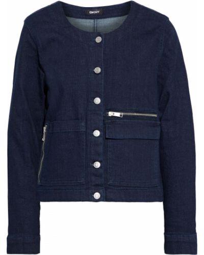 Хлопковая ватная синяя джинсовая куртка Dkny