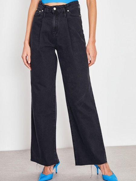 Широкие джинсы расклешенные черные Lime