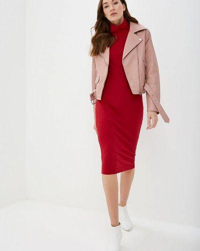 Платье вязаное красный Elena Kulikova