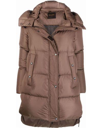 Дутая куртка - коричневая Moorer