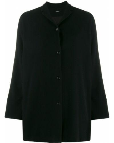 Прямая черная длинная куртка Apuntob