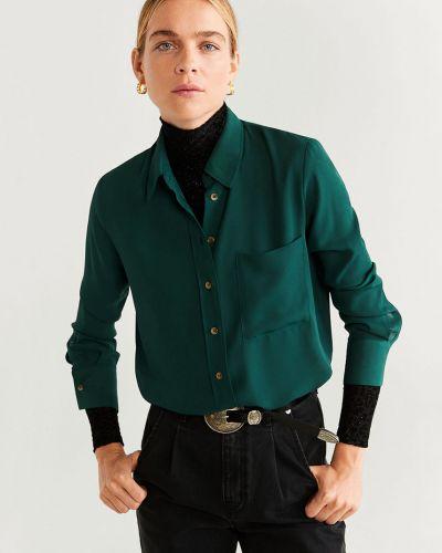 Блузка с длинным рукавом однотонная классическая Mango