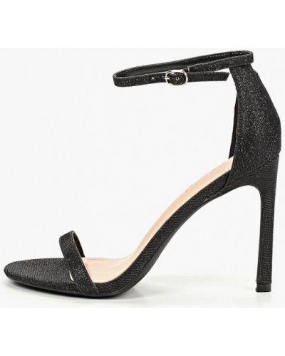 Босоножки на каблуке черные Ideal Shoes®