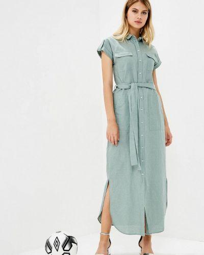 Зеленое платье осеннее Mango