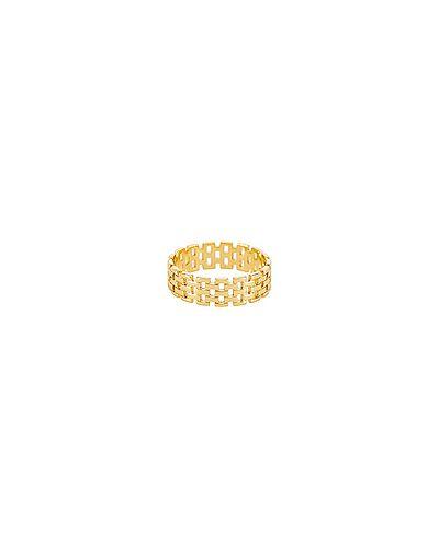 Кольцо из золота позолоченный Shashi