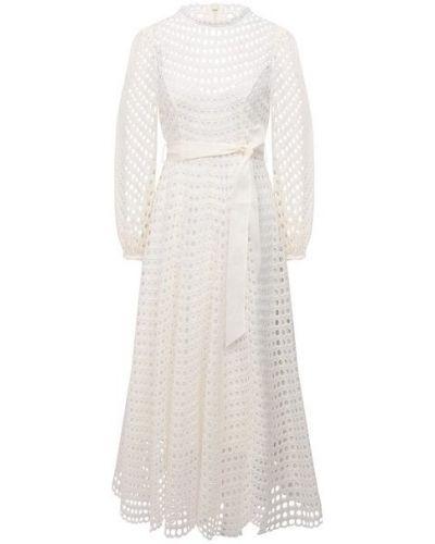 Белое платье с подкладкой Zimmermann