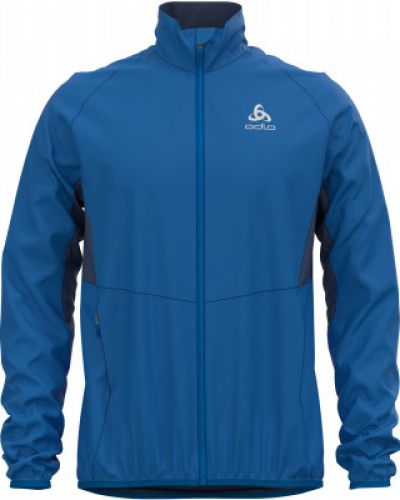 Синяя куртка для бега софтшелл Odlo