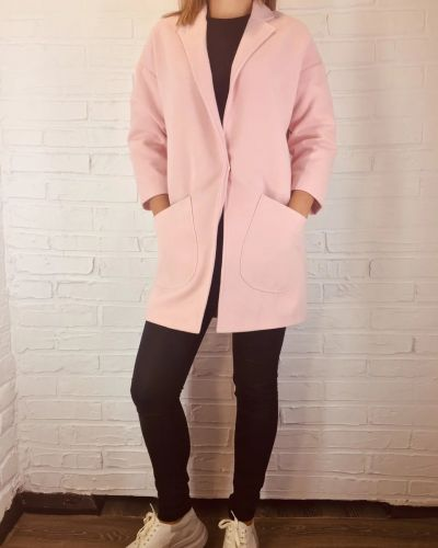 Кашемировое пальто - розовое Modum