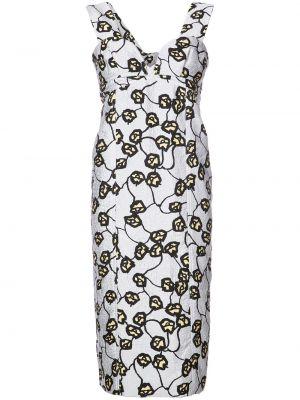 Шелковое платье миди - белое Marni