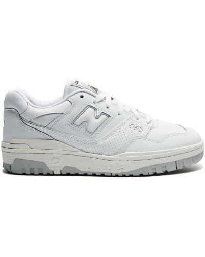 Баскетбольные кожаные белые кроссовки New Balance